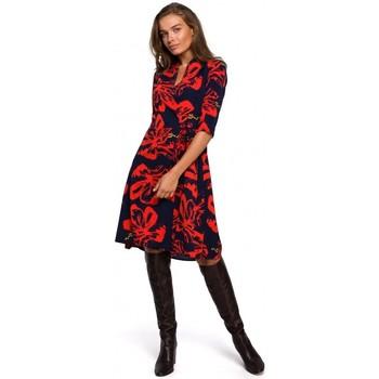textil Mujer Vestidos cortos Style S247 Vestido de corte y anudado con estampado - modelo 1