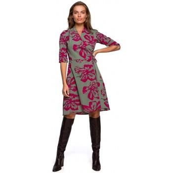textil Mujer Vestidos cortos Style S247 Vestido de corte y anudado con estampado - modelo 2