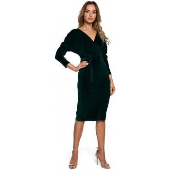textil Mujer Vestidos cortos Moe M561 Vestido de terciopelo - verde