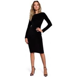 textil Mujer Vestidos cortos Moe M565 Vestido lápiz de terciopelo - negro