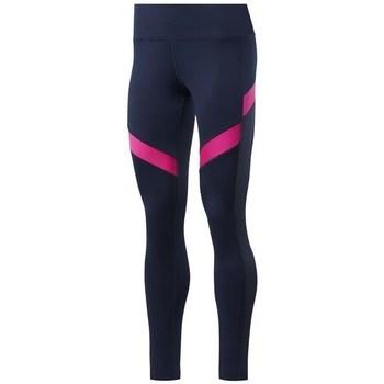textil Mujer Leggings Reebok Sport Wor Mesh Tight Azul marino, Rosa