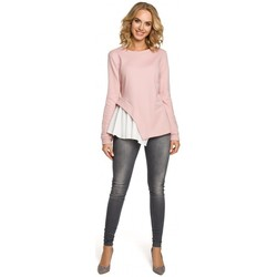 textil Mujer Tops / Blusas Moe M333 Blusa asimétrica a capas - polvo