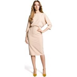 textil Mujer Vestidos cortos Moe M360 Vestido de largo medio con top suelto - beige