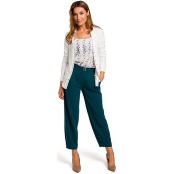 textil Mujer Jerséis Style S198 Cárdigan con botones de presión - color crudo