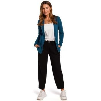 textil Mujer Jerséis Style S198 Cárdigan con botones de presión - azul marino