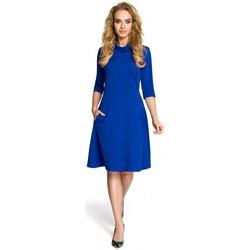 textil Mujer Vestidos cortos Moe M279 Vestido con cuello de tortuga - azul real