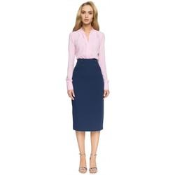textil Mujer Faldas Style S065 Falda midi lápiz - azul marino