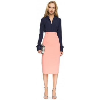 textil Mujer Faldas Style S065 Falda midi lápiz - rosa salmón