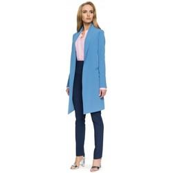 textil Mujer Chaqueta de traje Style S071 Blazer largo - azul