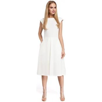 textil Mujer Vestidos cortos Moe M296 Vestido con pliegues invertidos - gris