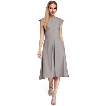 textil Mujer Vestidos cortos Moe M296 Vestido con pliegues invertidos - azul marino