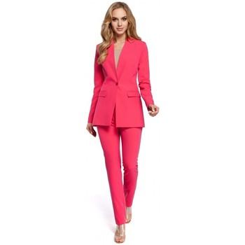 textil Mujer Chaqueta de traje Moe M304 Chaqueta de un botón - rosa