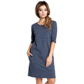textil Mujer Vestidos cortos Be B033 Vestido de caja - azul marino