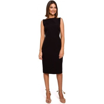 textil Mujer Vestidos cortos Style S216 Vestido lápiz sin mangas - negro