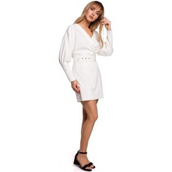 textil Mujer Vestidos cortos Moe M501 Minivestido con mangas abullonadas - color crudo