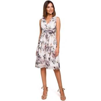 textil Mujer Vestidos Style S225 Vestido de gasa con escote - modelo 1