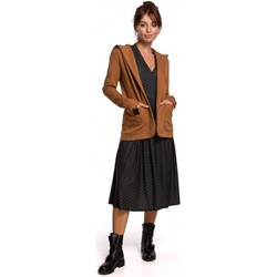 textil Mujer Chaquetas / Americana Be B180 Blazer con capucha en punto de algodón - caramelo