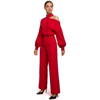 textil Mujer Monos / Petos Moe M528 Mono de manga obispo - rojo