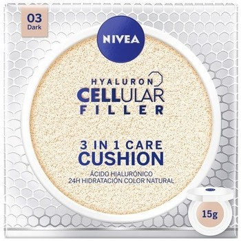 Belleza Mujer Hidratantes & nutritivos Nivea HYALURON CELLULAR FILLER 3IN1 CARE CUSHION 03-DARK 15GR