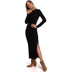 textil Mujer Vestidos largos Moe M544 Maxivestido con abertura en la pierna - negro