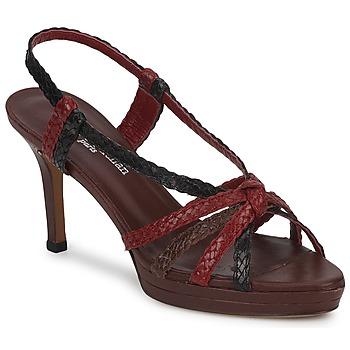 Zapatos Mujer Sandalias Stéphane Kelian PRISCILLE Marrón / Burdeo