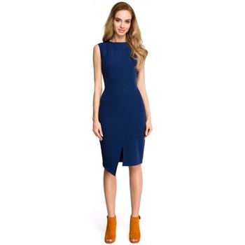 textil Mujer Vestidos cortos Style S105 Vestido sin mangas de imitación - azul marino