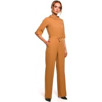textil Mujer Monos / Petos Moe M463 Jumpsuij con cuello alto - canela