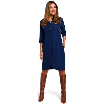 textil Mujer Vestidos cortos Style S189 Vestido Blazer - azul marino