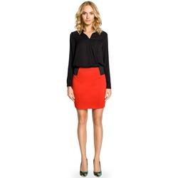textil Mujer Faldas Moe M042 Minifalda lisa con banda elástica en la cintura - rojo