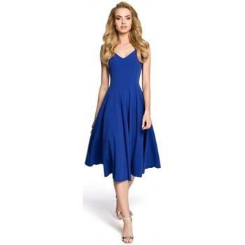 textil Mujer Vestidos cortos Moe M201 Vestido de cóctel sin mangas - azul real