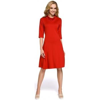 textil Mujer Vestidos cortos Moe M279 Vestido con cuello de tortuga - rojo