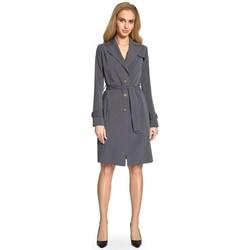 textil Mujer Trench Style S094 Abrigo de trinchera - gris