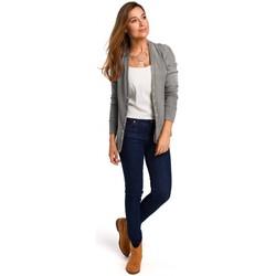 textil Mujer Tops / Blusas Style S198 Cárdigan con botones de presión - gris