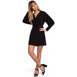 textil Mujer Vestidos cortos Moe M501 Minivestido con mangas abullonadas - negro