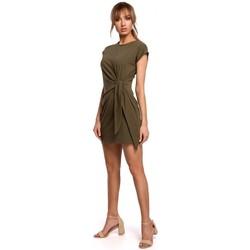 textil Mujer Vestidos cortos Moe M508 Minivestido con nudo - caqui