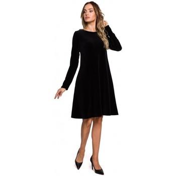 textil Mujer Vestidos cortos Moe M566 Vestido relajado de terciopelo - granate