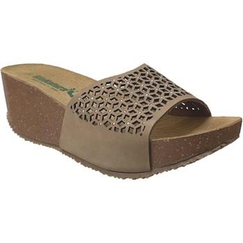 Zapatos Mujer Zuecos (Mules) Bionatura TELL ETNIC Nobuck gris pardo