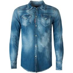 textil Hombre Camisas manga larga Dsquared  Azul