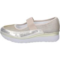 Zapatos Mujer Bailarinas-manoletinas Cinzia Imprint Bailarinas Textil Platino