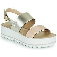 Zapatos Mujer Sandalias NeroGiardini SABRI Blanco / Oro