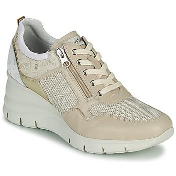 Zapatos Mujer Zapatillas bajas NeroGiardini FLORA Beige / Oro