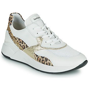 Zapatos Mujer Zapatillas bajas NeroGiardini FIDEL Blanco / Leopardo