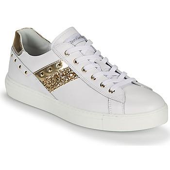 Zapatos Mujer Zapatillas bajas NeroGiardini DRILLA Blanco / Oro