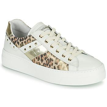 Zapatos Mujer Zapatillas bajas NeroGiardini MANO Blanco / Leopardo