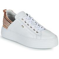 Zapatos Mujer Zapatillas bajas NeroGiardini GATTO Blanco / Rosa / Gold