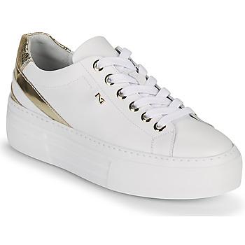 Zapatos Mujer Zapatillas bajas NeroGiardini LAITO Blanco / Oro