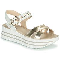 Zapatos Mujer Sandalias NeroGiardini TIMMA Blanco / Oro