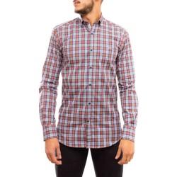 textil Hombre Camisas manga larga Klout CAMISA REGULAR CUADRO Naranja