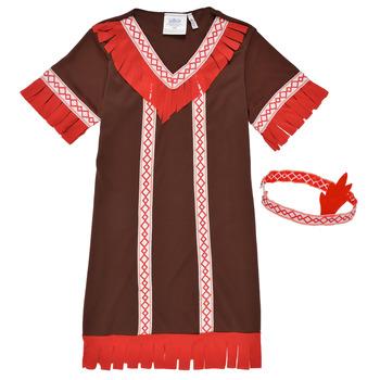 textil Niña Disfraces Fun Costumes COSTUME ENFANT INDIENNE FOX KITTEN Multicolor