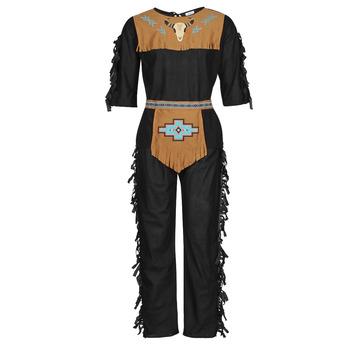 textil Hombre Disfraces Fun Costumes COSTUME ADULTE INDIENNE SHE-WOLF Multicolor